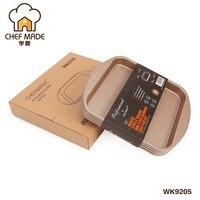 Chef Made Baking Mold 8 Inch Non stick Square Rainbow Cake Naked Cake Mold Home Baking Bakeware Cake Pans Baking Dish