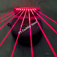 T3 Laser red light glasses dj disco party bar wears nightclub catwalk ballroom dance costumes stage props laser suit supply