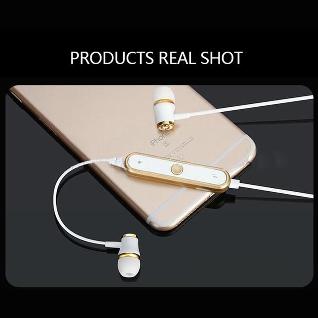 Bluetooth Earphone Metal Magnetic Earpiece Wireless Sports Headphones for iPhone X 7 8 Plus Samsung Huwei P9 Xiaomi Mobile Phone