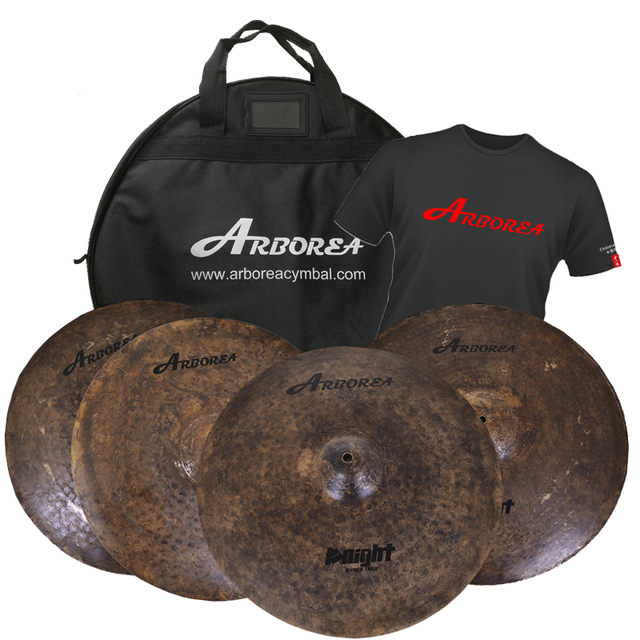 Knight vintage cymbal set 14hi-hat+16crash+20mr+free bag