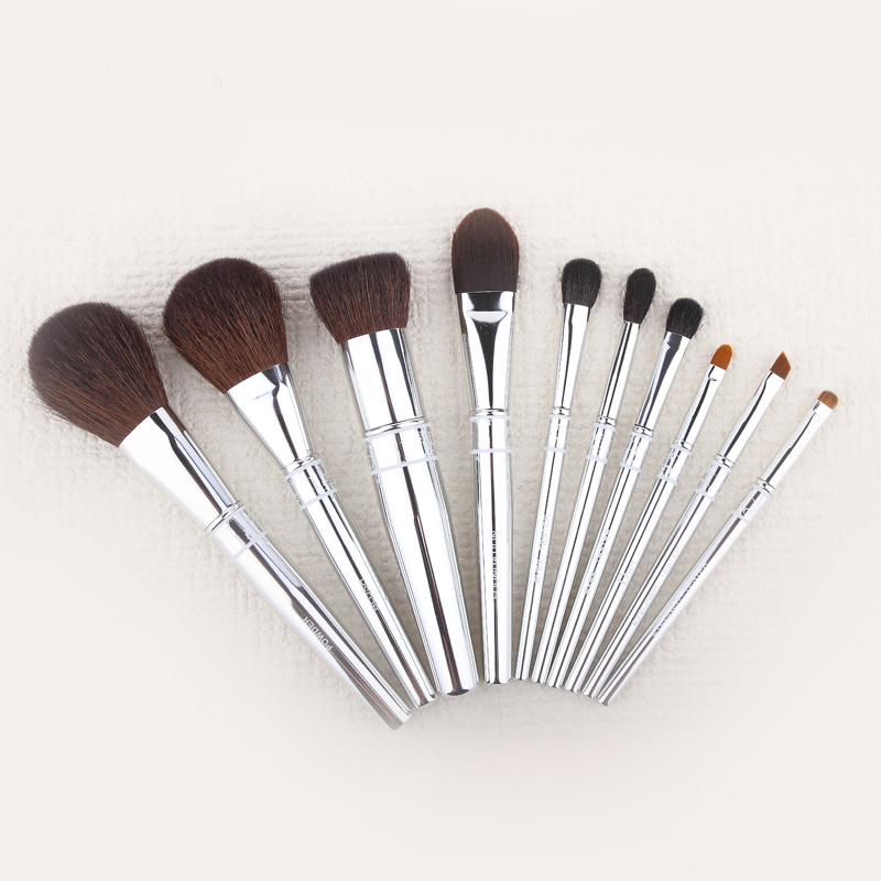 10 pcs Marca Pincéis de Maquiagem Conjunto de Cosméticos Escova Fundação Make Up Tools Escova Kit para Blush Em Pó Da Sombra de Olho Delineador