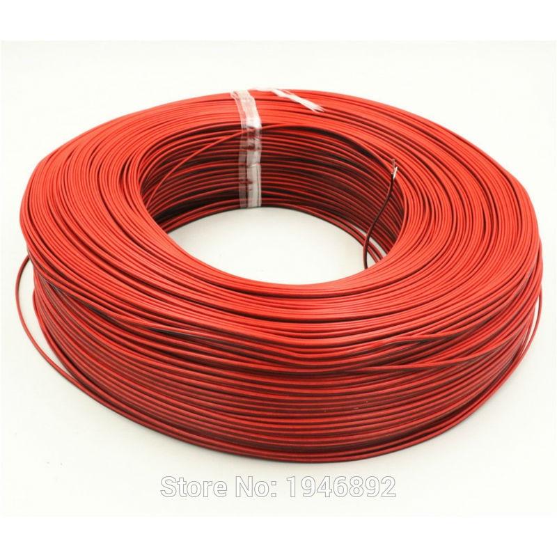 10 Mètres-cuivre Étamé 24 AWG, 2 broches câble, fil Torsadé PVC fil isolé, LED Bande câble Électrique Étendre Fil salomo