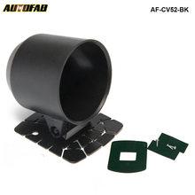 Универсальный 52 мм 2 дюйма авто измеритель подстаканник Pod черный Кронштейн автомобиль-Средства для укладки волос AF-CV52-BK