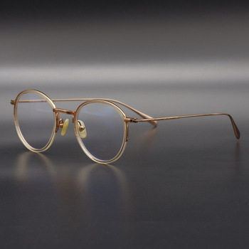 bcaaaade6b Gafas ópticas de titanio ultraligeras para hombre gafas redondas Vintage  montura para hombre gafas de miopía