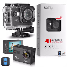 VeFly Sports & Action Cámaras de video cámara de acción 4k cam dvr wifi control remoto hdmi deporte cámara acción 4k ultra hd
