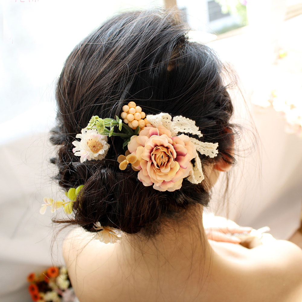 Hair Clip Women Girl Big Rose Flower Hais