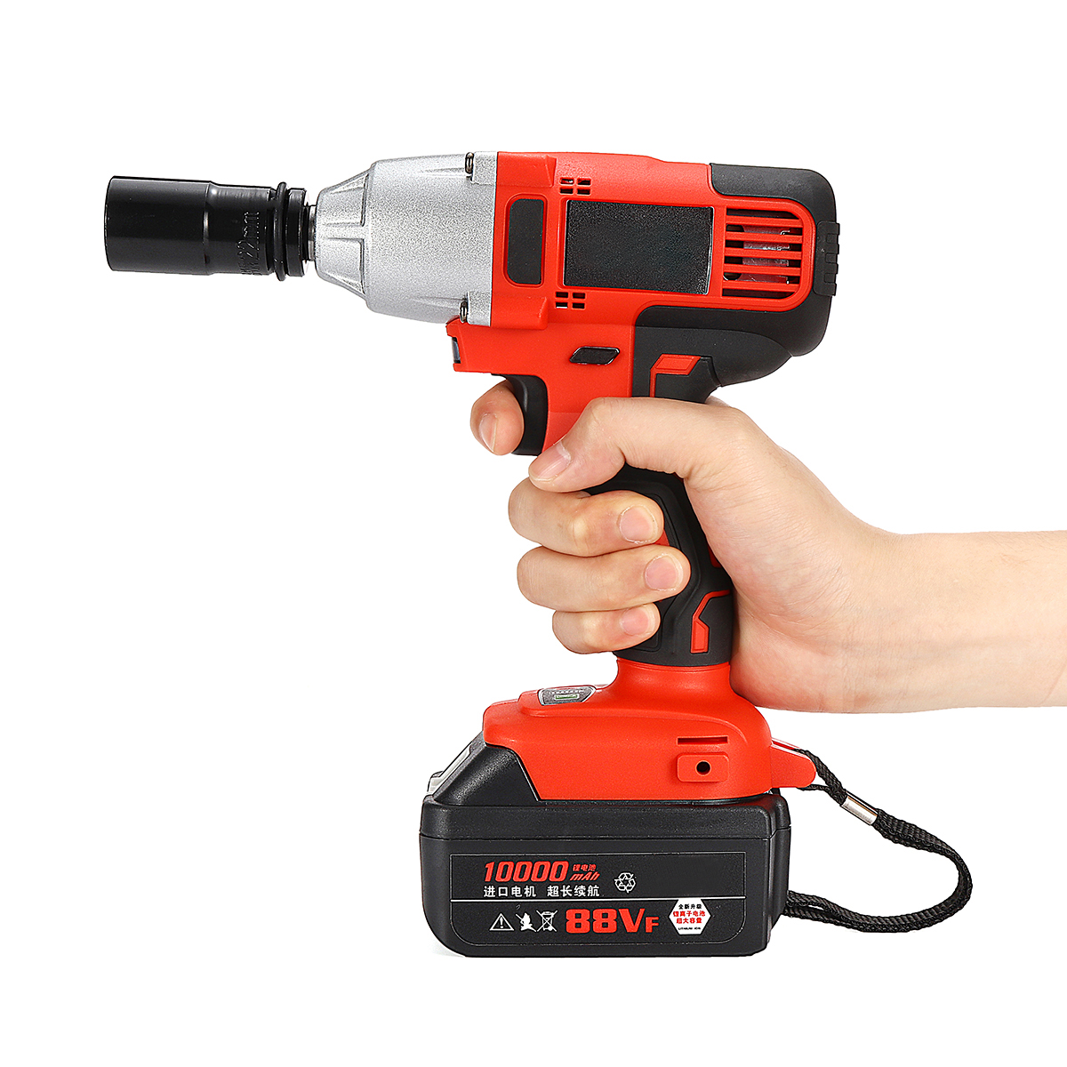 цены 21V Electric Impact Wrench 10000mAh Lithium Battery Cordless Wrench Home Repair Power Tool 330N.m Brush Drill