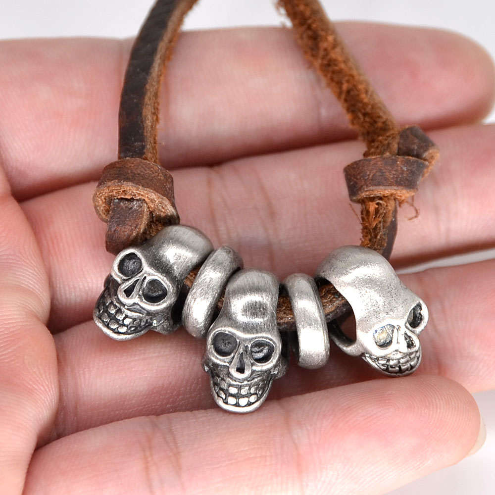 Umgodly New Arrival Cool Punk Rock Genuine Leather Necklace Fashion ...
