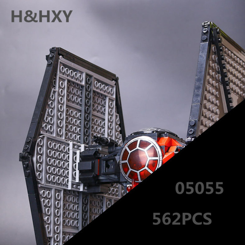 H&HXY 05005 562Pcs Star Plan Series The First Order Tie Set Fighter 75101 LEPIN Building Blocks Bricks Educational Toys Gifts