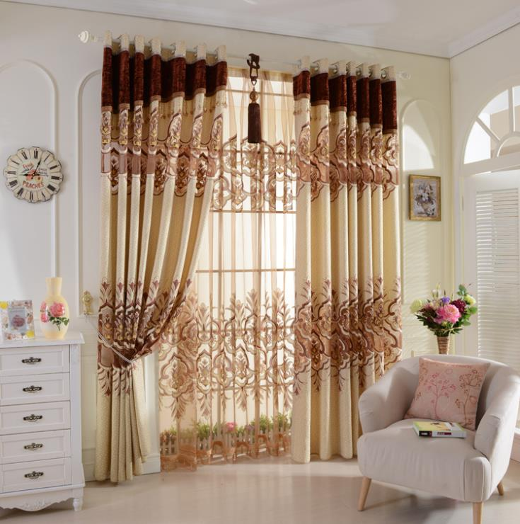 Gorden Ruang Tamu Warna Coklat Inspirasi Rumah