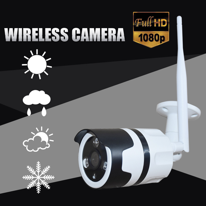 Zjuxin 1080P WIFI outdoor camera Wireless IP Camera support max 128GB TF card HD 3.6mm lens Full HD 1080P CCTV CAM metal shell цены онлайн