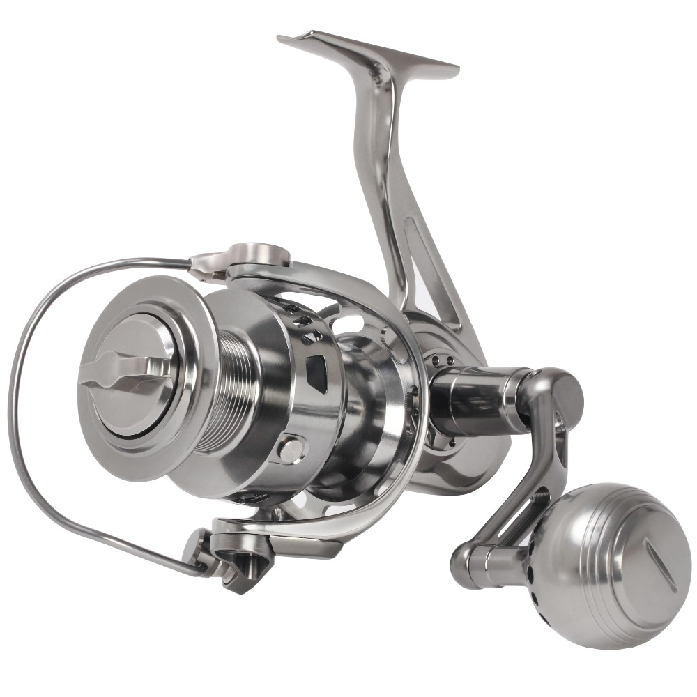 SALTWATER CNC MACHINED POWERFUL FULL METAL SPINNING FISHING REEL 20KG 30KG DRAG 5000 6000 LONG CASTING