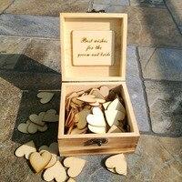 Personalised Wedding Guest book ,Custom Rustic Drop top Drop box wedding alternative GuestBook with Hearts, Wedding decoration