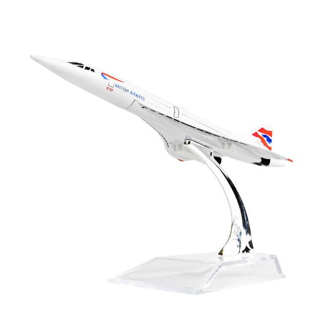 El aire BRITISH F-BVFB Concorde 16 cm modelos del aeroplano del metal regalo de cumpleaños del niño chiristmas regalo modelos de avión envío gratis