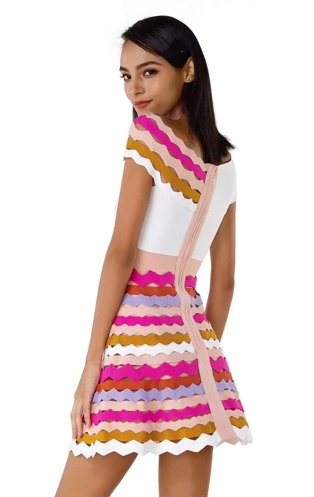 Delocah, модное осеннее Мини Короткое платье для подиума, женское платье с расклешенными рукавами, с принтом персонажа, кружевное Сетчатое элег... - 4