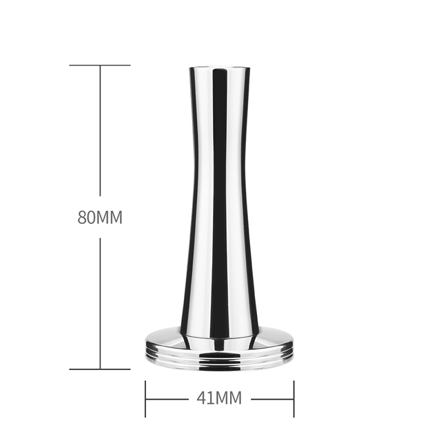 41 mm Solid Iron with Chrome Plated Base Coffee Tamper for Espresso Coffee Machines Silver Color Dolce Gusto Press Coffee