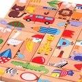 Детские игрушки животных головоломка пасьянс домино ШТ 28 детей стандарт домино, деревянные игрушки, раннего детства бесплатная доставка