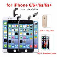 Calidad AAA para iPhone 6 6 S 5S iPhone 6 6 S Plus LCD Pantalla táctil digitalizador ensamblaje Pantalla para el iPhone 6 lcd