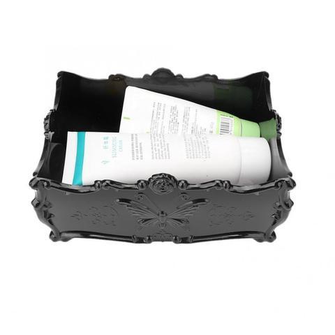 Multi-functional Retro Rose Makeup Storage Case Desktop Skin Care Products Organizer Holder Makeup Storage Case Makeup Tool Kits Karachi