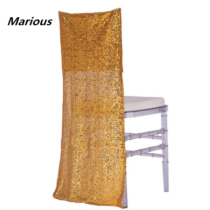 Glitter gold silver sequin half chiavari chair hood chair cap free shipping 50 pcs/lot