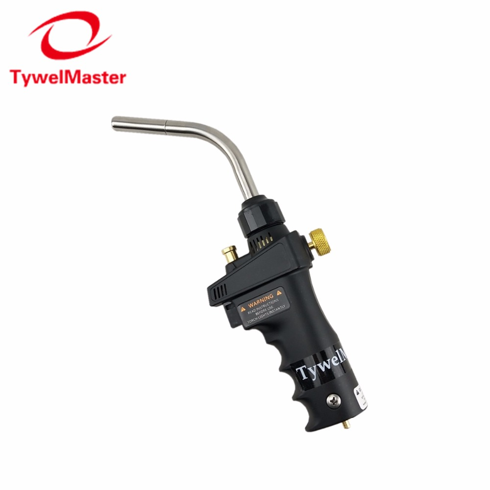 Mapp Torch Ignition Flame Brazing Gun CGA600 Burner Blowtorch Welding Quenching HVAC Plumbing Propane Gas Welding Torch