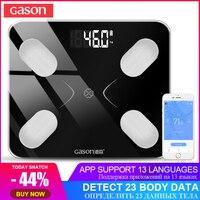 [Поддержи русский]GASON S3 Bluetooth напольные весы Мониторинг жира Бесплатное приложение (290 * 260мм)