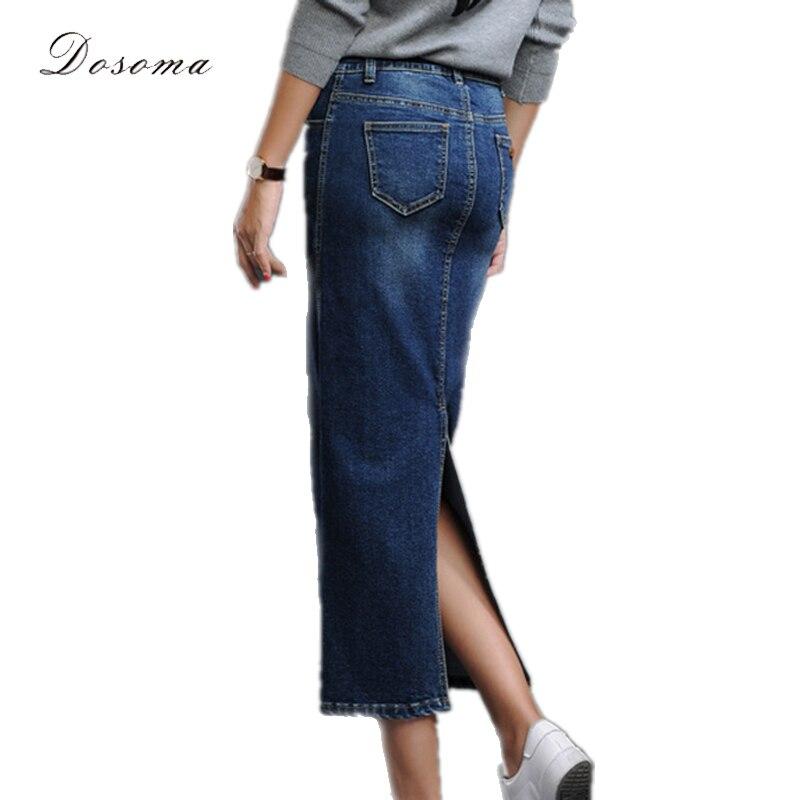 Long Denim Jean Skirts for Women