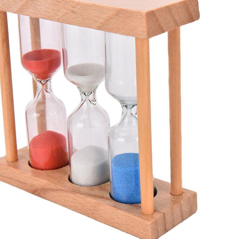 1/3/5 Minutes Wood Frame Sand Glass Hourglass Sand Timer Clock ...