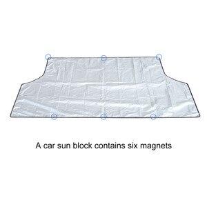 Image 4 - مظلة السيارات العالمية غطاء مع المغناطيس السيارات الأمامي الزجاج الأمامي شمسي نافذة السيارة ظلة اللون الأسود