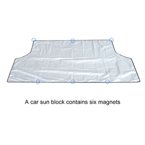 Image 4 - Universal Car Sunshade Cover with Magnet Auto Front Windshield Sunshades Car Window Sunshade Black Color