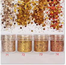 4 Boxes/ in one 10ml Shiny golden series Nail Glitter Powder Sequins For Art UV Resin Jewelry DIY