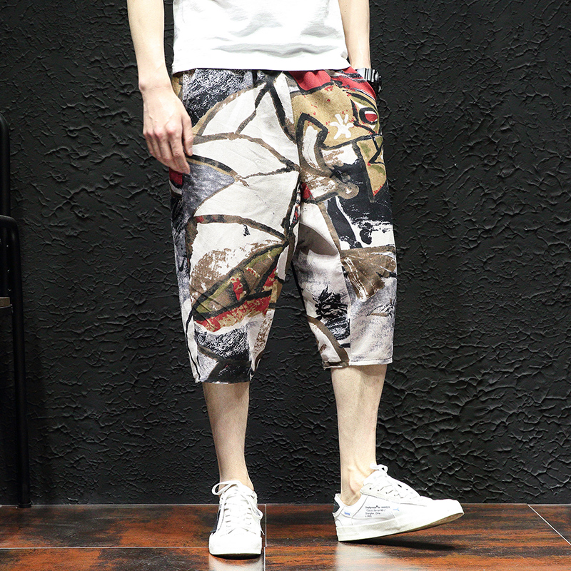 Gingham Shorts Harem-Pockets Bermuda Knee-Length Cotton Summer Casual Fashion Top Loose
