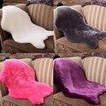 Imitación de piel de Oveja suave Alfombra Estera alfombra Almohadilla Antideslizante Sofá Silla Cubierta Decoración