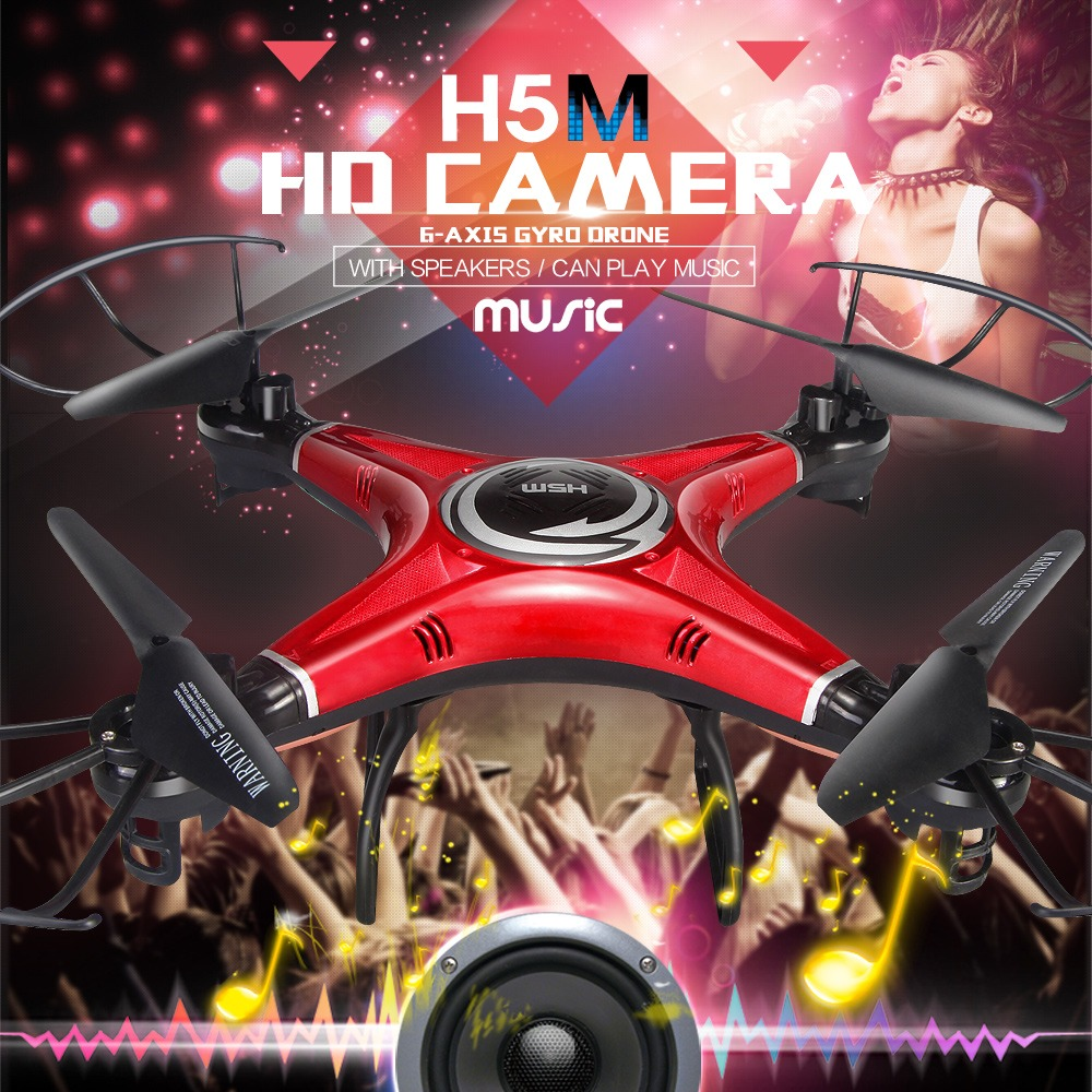 ФОТО JJRC H5M Music Drones  Quadcopters With Speaker Hexacopter Professional Rc Dron Flying Helicopter Camera Copter