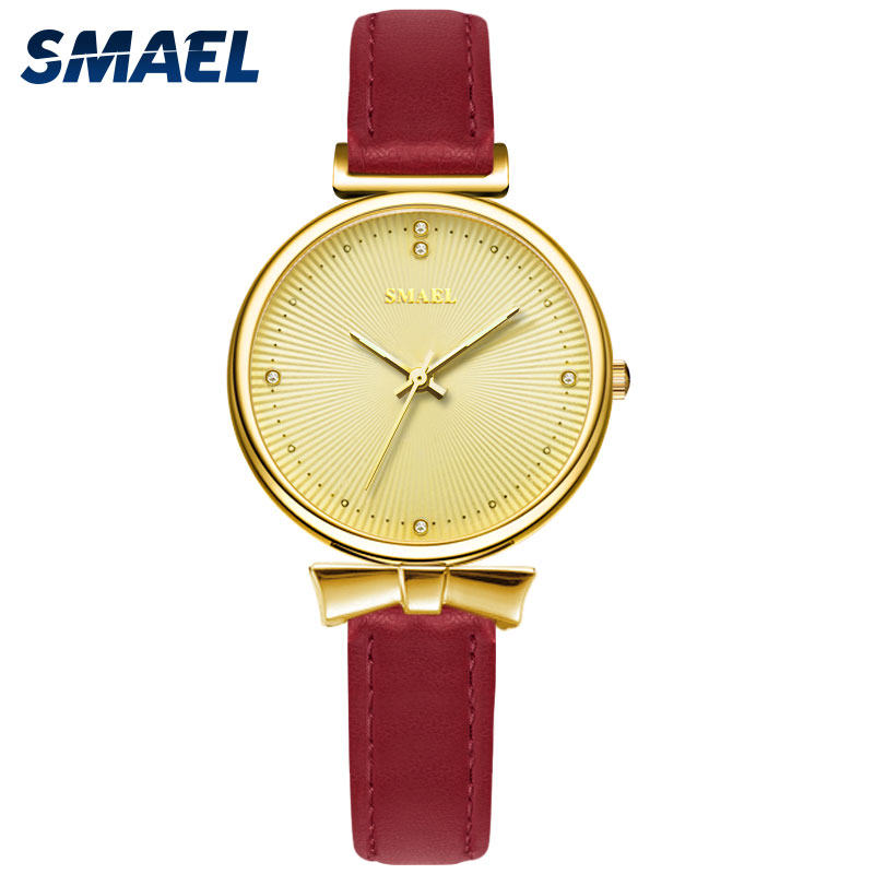 Woman Watches Luxury Brand SMAEL Quartz Wristwatches For Female Rose Gold Ladies Watch Waterproof 1907 Clock Women Sports Casual