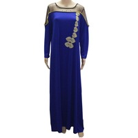 Tilapia New Designs Maxi Long Women Lace Dress Summer Autumn Loose Size Kaftan Ankara Dress Casual