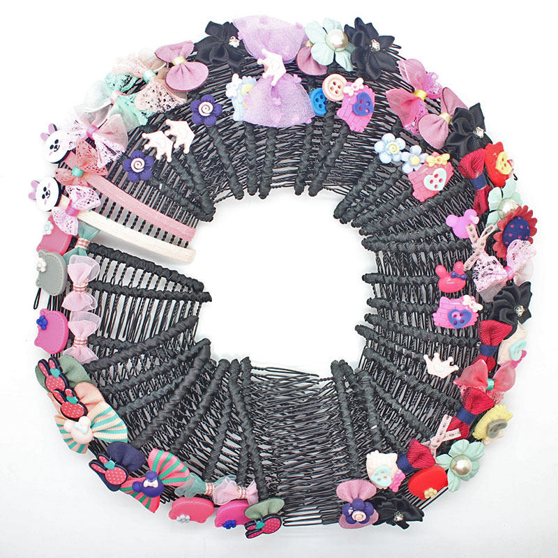 Hot sale sunmer style all kinds of hair combs flowers Lace bowknot hair clips metal headwear for women girls hair ornament