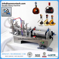 5 100ml Horizontal Full Pneumatic Double Shampoo Filling Machine Essential Oil Filling Machine 5 100ml
