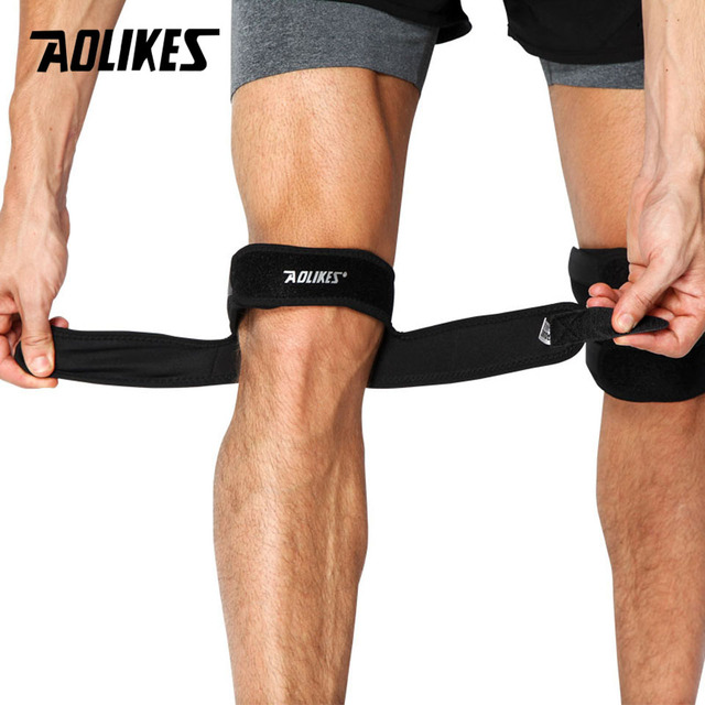 a2f75aa797 AOLIKES 1PCS Knee Support Patella Belt Elastic Bandage Sport Strap Knee  Pads Protector Band Football running Fitness Knee brace