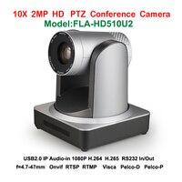 H.265 H.264 HD 1080 P конференции PTZ Камера USB2.0 IP видео потоковое аудио Plug & Play 340 градусов с Onvif RTSP RTMP протоколы