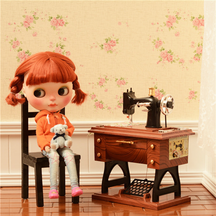 nostalgia sewing machine available for 1/6 BJD Blyth JB PULLIP AZONE DAL LICCA doll Shooting props doll accessories