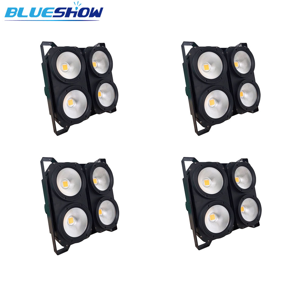 4pcs / lot, 4x100W Blanco cálido / Blanco frío COB LED Blinder Lights 400w led par etapa led audiencia luz
