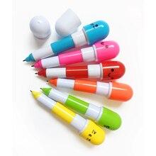 ピース/パック混合色伸縮ボールペン文房具 24 漫画かわいい表情ピルペン漫画の広告ペン