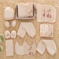 16-18 шт./компл. Девушка Новорожденный Одежда 100% Хлопок одежда Набор Зима Толстая Детские linfant Undwear 0-12мес