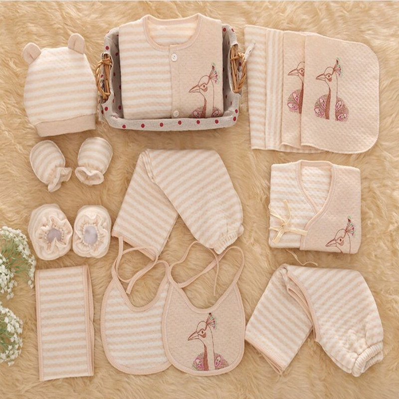 16 18 pcs set Newborn Baby Girl Clothes 100 Cotton clothing Set Winter Thick Baby linfant