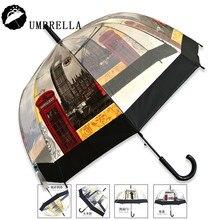 Kostenloser Versand 6 Typ Eisenturm Regenschirm Transparent Rainny Sonnenschirm Sonnenschirm Nette Frauen Nette Klar Paraguas