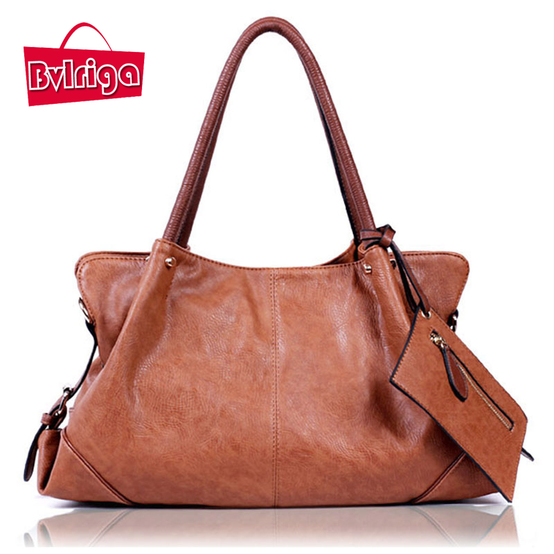 BVLRIGA Women messenger bags designer handbags high quality big size leather han
