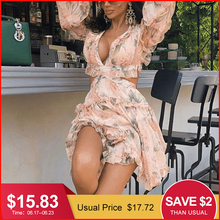 Glamaker Chiffon floral print sexy short jumpsuit Women Lace up elegant summer romper adult Ruffle beach backless party playsuit