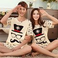 Nuevo 2017 Summer Casual Mujeres de Los Hombres Pijamas ropa de Dormir de Algodón del Amante Pareja Home Sleep Wear Ropa Trajes de Salón