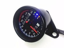 Black LED Backlight Signal Motorcycle Odometer KMH Speedometer Gauge Cafe Racer scooter parts speedometer gauges cluster tacho odometer for kawasaki zrx400 zrx750 zrx1100 kmh 260 free shipping